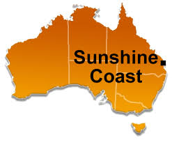 Sunshine Coast map of Australia